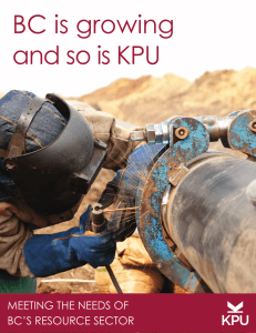 BC is growing and so is KPU - Kwantlen Polytechnic University