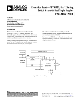 Analog Devices EVAL-ADG2128EBZ datasheet