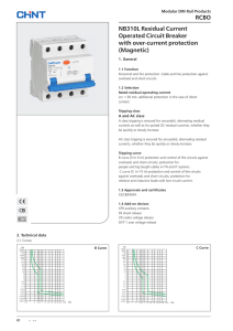 RCB RCBO NB310L Residual Current Operated Circuit Breaker with