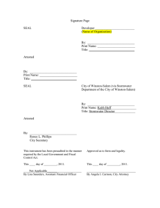Signature Page Example for agreement [pdf - City of Winston