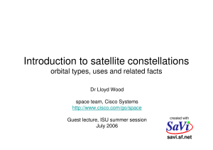 Introduction to satellite constellations