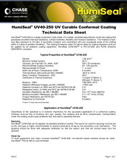 HumiSeal® UV40-250 UV Curable Conformal Coating Technical