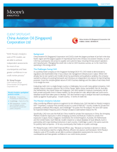 China Aviation Oil (Singapore) Corporation ltd