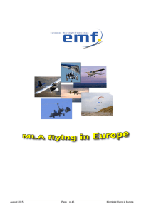 August 2015 Page 1 of 45 Microlight Flying in Europe