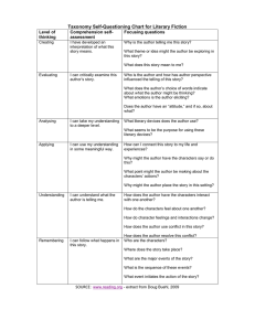Taxonomy Self-Questioning Chart for Literary Fiction