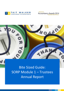 Bite Sized Guide: SORP Module 1 – Trustees Annual
