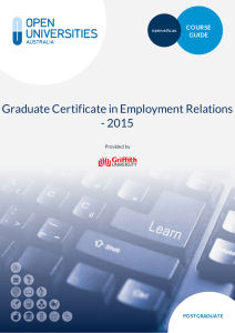 Graduate Certificate in Employment Relations
