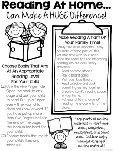 Parent Tips for Reading at Home