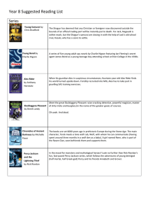 Year 8 Suggested Reading List