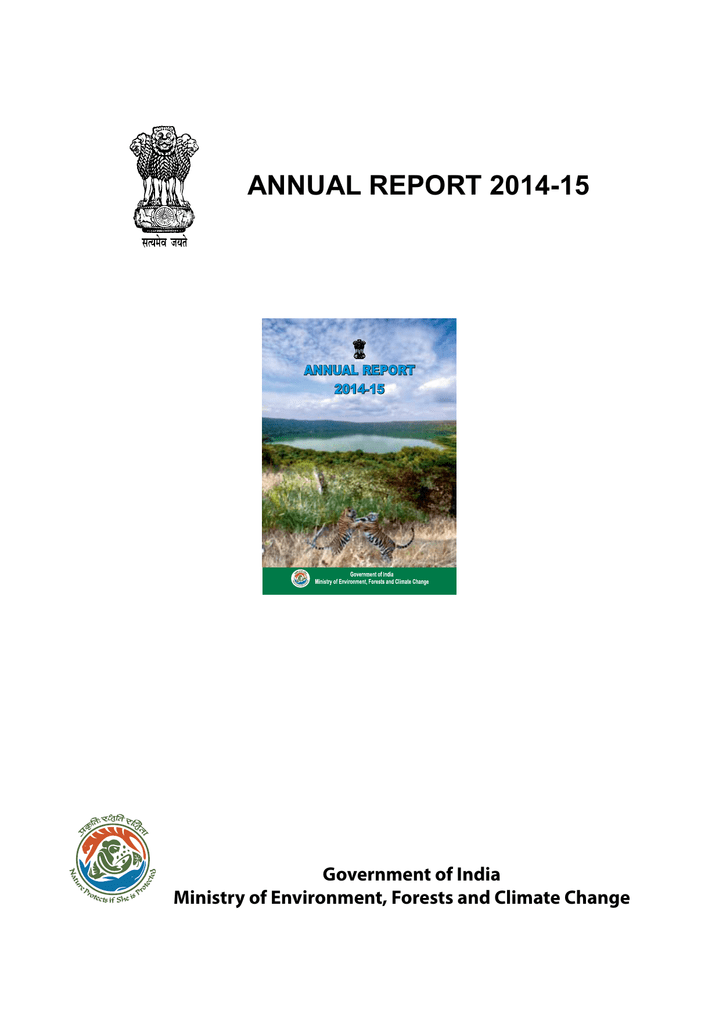 annual report 2014-15 - Ministry of Environment and Forests