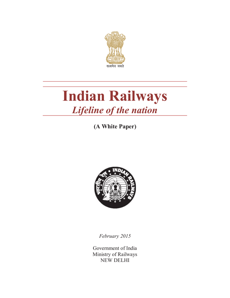 A White Paper) - Indian Railway