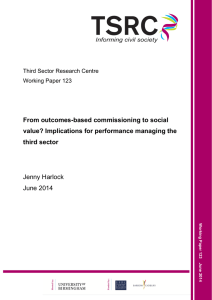 From outcomes-based commissioning to social value? Implications