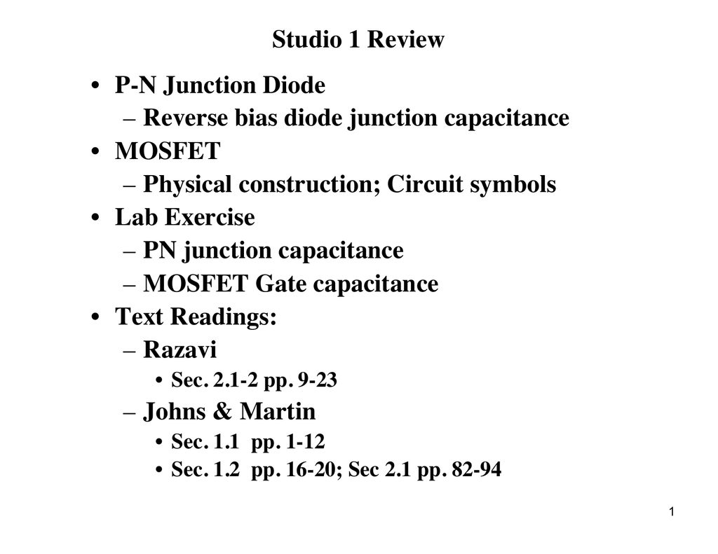 Studio 1 Review P N Junction Diode Reverse Bias Understanding The Pn