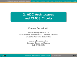 2. ADC Architectures and CMOS Circuits