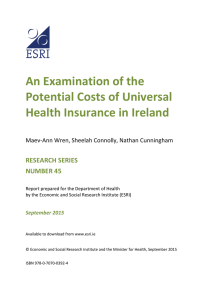 An Examination of the Potential Costs of Universal Health Insurance in