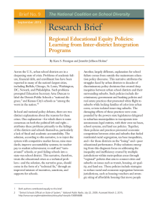 Research Brief No. 9: Regional Educational Equity Policies