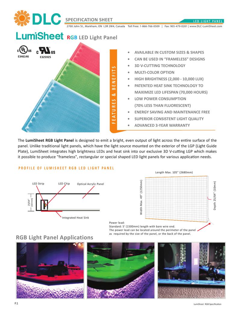 RGB LED Light Panel