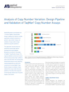 Design Pipeline and Validation of TaqMan® Copy Number Assays