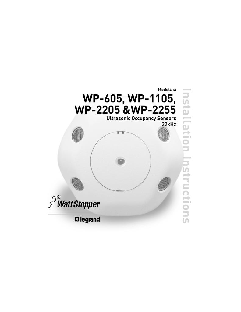 WP-605, WP-1105, WP-2205, WP-2255 Ultrasonic Installation on