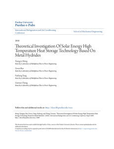Theoretical Investigation Of Solar Energy High - Purdue e-Pubs