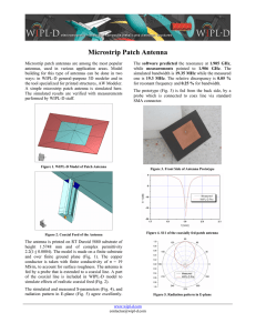 Microstrip Patch Antenna - WIPL-D