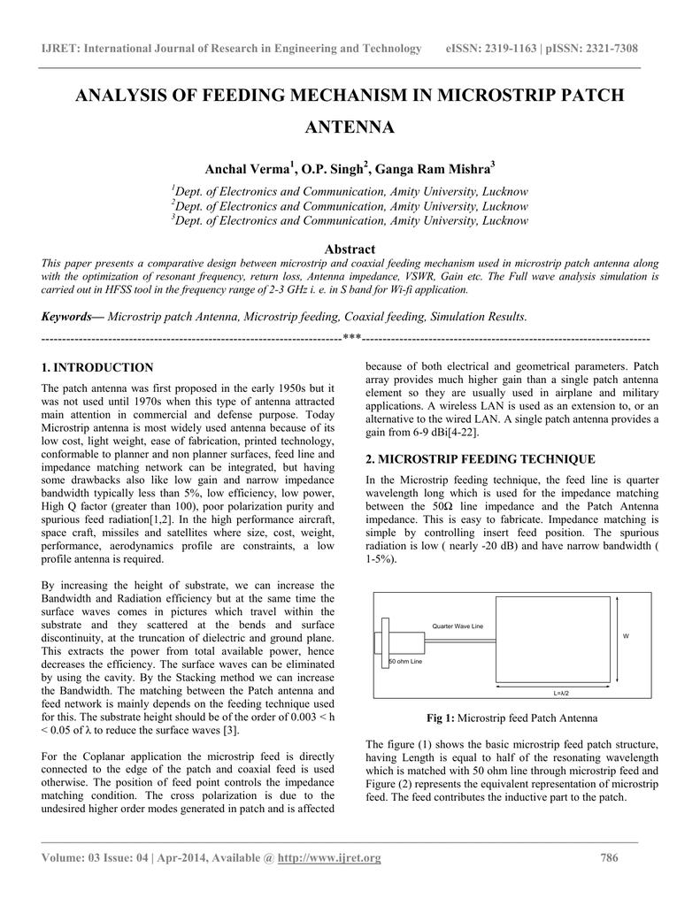 Hfss patch antenna array simulation   Peatix