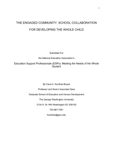 the engaged community: school collaboration for developing