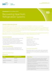 Recovering Heat from Refrigeration Systems
