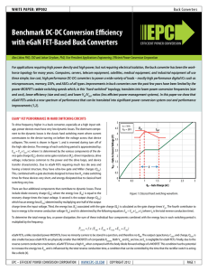 Benchmark DC-DC Conversion Efficiency with eGaN FET