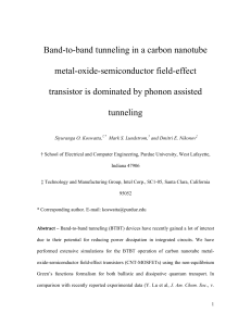 Band-to-band tunneling in a carbon nanotube metal