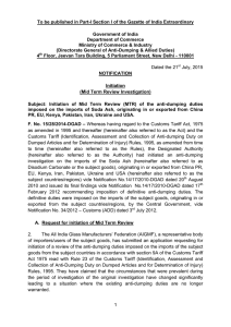 Notification on Initiation of Mid-Term Review (MTR)