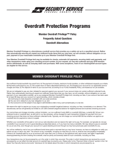 Overdraft Protection Programs - Security Service Federal Credit Union