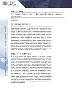 Continuous Replication for Business-Critical Applications