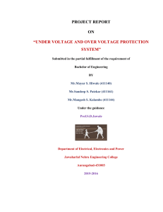 "project report on ""under voltage and over voltage protection system"""