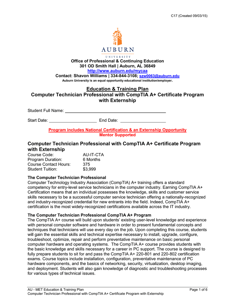 Computer Technician With Comptia A