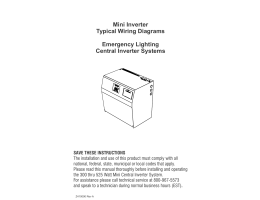Mini inverter typical wiring diagrams emergency lighting central wiring diagram asfbconference2016 Gallery