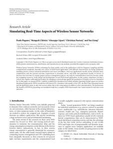 Research Article Simulating Real-Time Aspects of