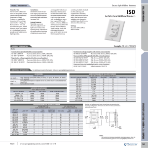 Architectural Wallbox Dimmers