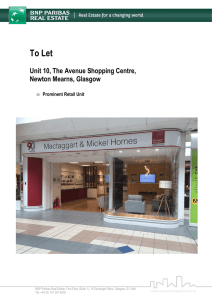 Unit 10 The Avenue Shopping Centre Newton Mearns