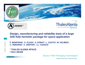Design, manufacturing and reliability tests of a large