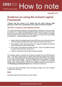 How to note: Guidance on using the revised Logical