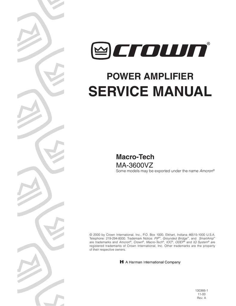 Power Amplifier Service Manual Making 30 8211 100watts 018644198 1 F7de4d2399267ecf56fe99f3ecb367e0