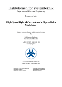 High-Speed Hybrid Current mode Sigma Delta Modulator