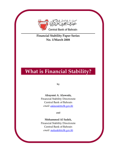 What is Financial Stability?