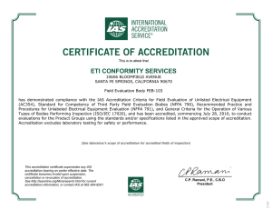 FEB-103 - The International Accreditation Service