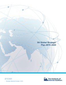IIA Global Strategic Plan 2015–2020 - The Institute of Internal Auditors