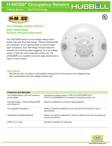 H-MOSS® Occupancy Sensors H-MoSS