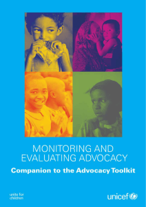 Monitoring and Evaluating Advocacy
