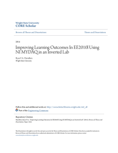 Improving Learning Outcomes In EE2010l Using NI