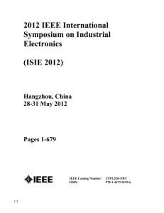 2012 IEEE International Symposium on Industrial Electronics (ISIE
